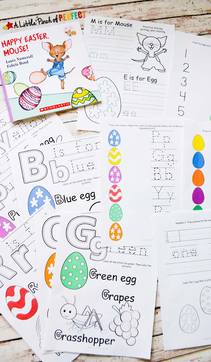 happy easter mouse free printable pack printable includes