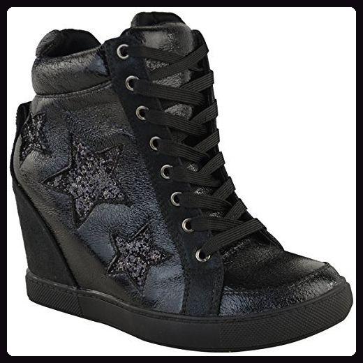 free shipping 67445 8b0cc Damen High-Top-Sneaker mit verstecktem Keilabsatz ...