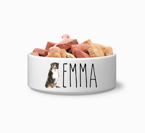 Bernese Mountain Dog Custom Dog Bowl Personalized Dog Bowl Bowl