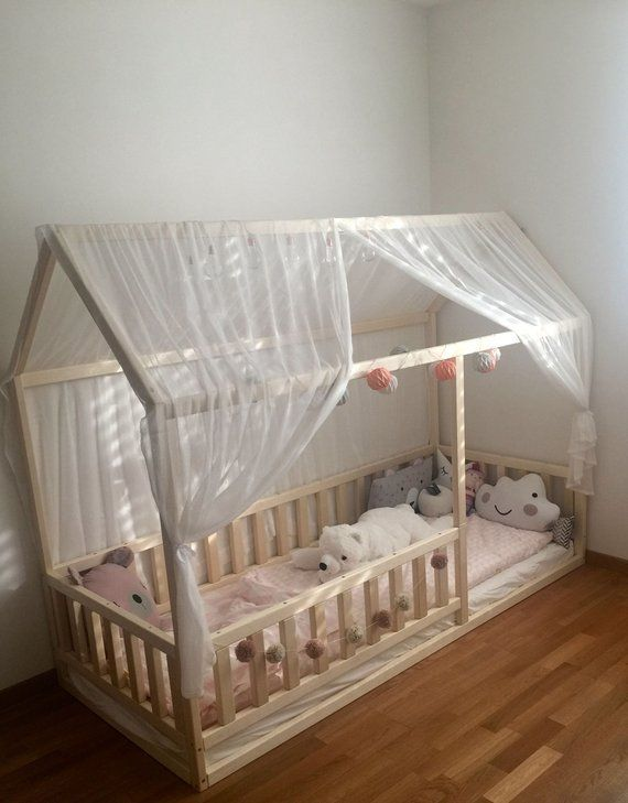 Kids Bedroom Furniture Kids Wooden Toys Online: Toddler House Bed, Montessori Floor Bed, Teepee Bed, Kid