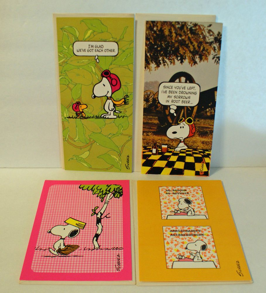 Peanuts greeting cards image collections greeting card examples peanuts snoopy greeting cards lot of 4 vintage cards unused peanuts snoopy greeting cards lot of kristyandbryce Gallery