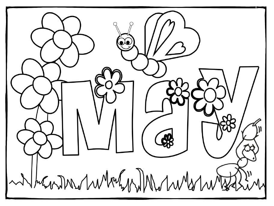 May Coloring Pages - Best Coloring Pages For Kids Spring Coloring Pages, Coloring  Pages For Kids, Coloring Pages
