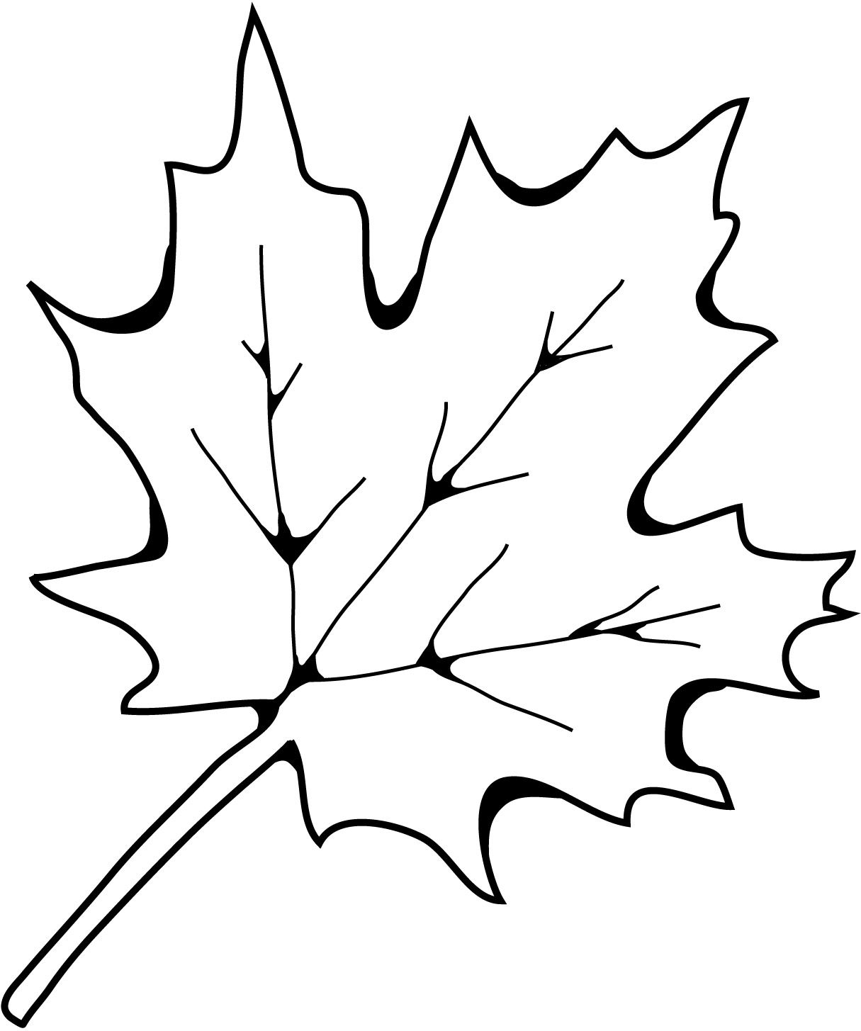 Use this leaf coloring page in a lesson today about fall