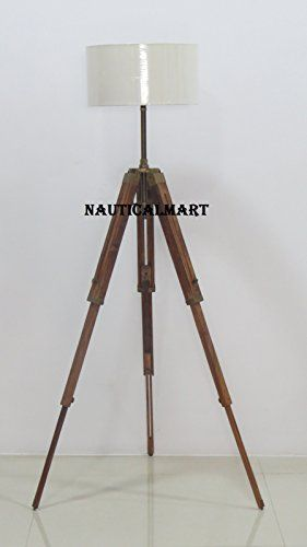 Classic Tripod Floor Lamp With Wooden Stand For Living Ro Https Www Dp B01lemhdlq Ref Cm Sw R Pi Dp Tripod Floor Lamps Tripod Floor Floor Lamp