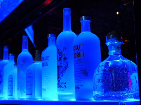 Building Lighted Liquor Bottle Shelves for Your Home