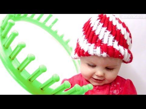 How to make a Peppermint Twist Beanie Hat on a Round Loom - YouTube ...