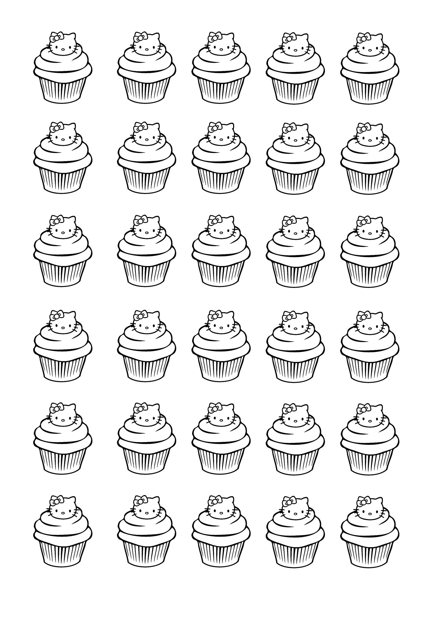 Ideal Coloring Pages Of Cupcakes