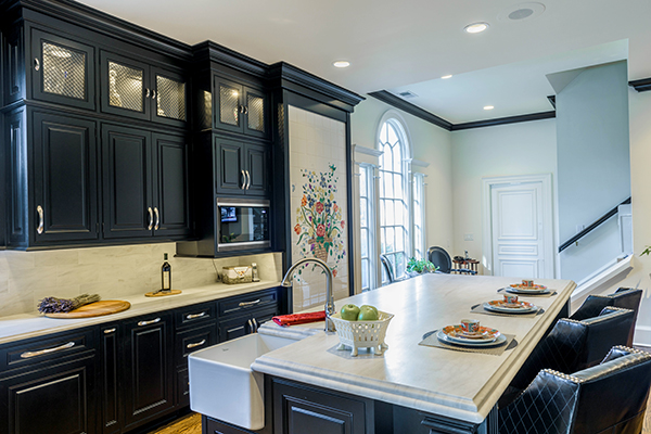 Mouser Cabinetry   Striking Black Kitchen