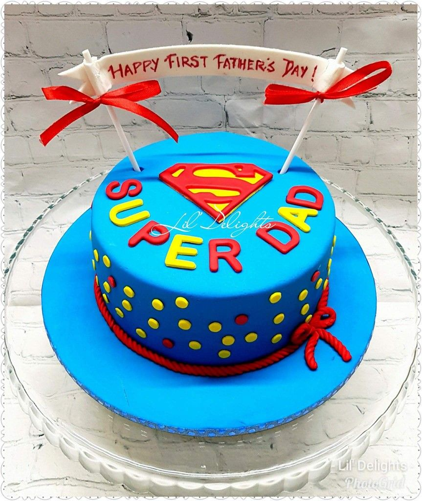 Super Dad cake for Father's day ! Lil' Delights by