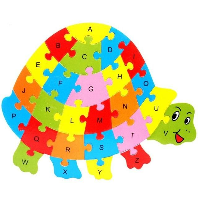 Bohs Wooden Animals English 26 Alphabetic Letter Jigsaw Puzzle Children 3 5 6 Years Old Animal Alphabet Wooden Animals Wooden Baby Toys