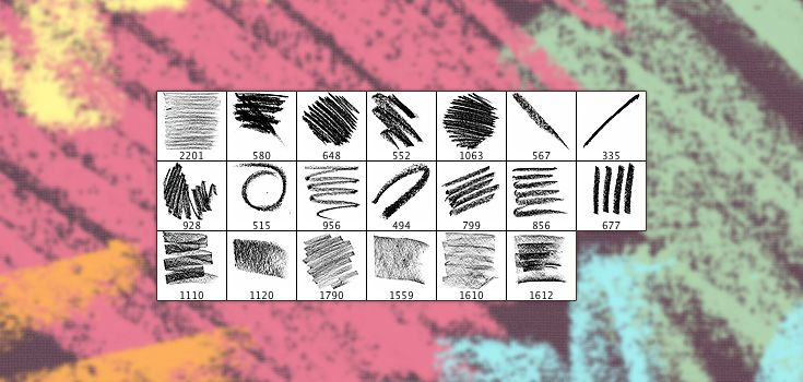 20 Free High Resolution Oil Pastel Photoshop Brushes Premium