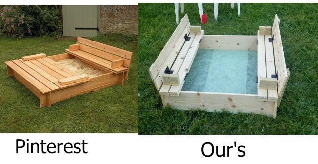 Sand Box With Built In Seats Kids Sandbox Diy Sandbox Sandbox