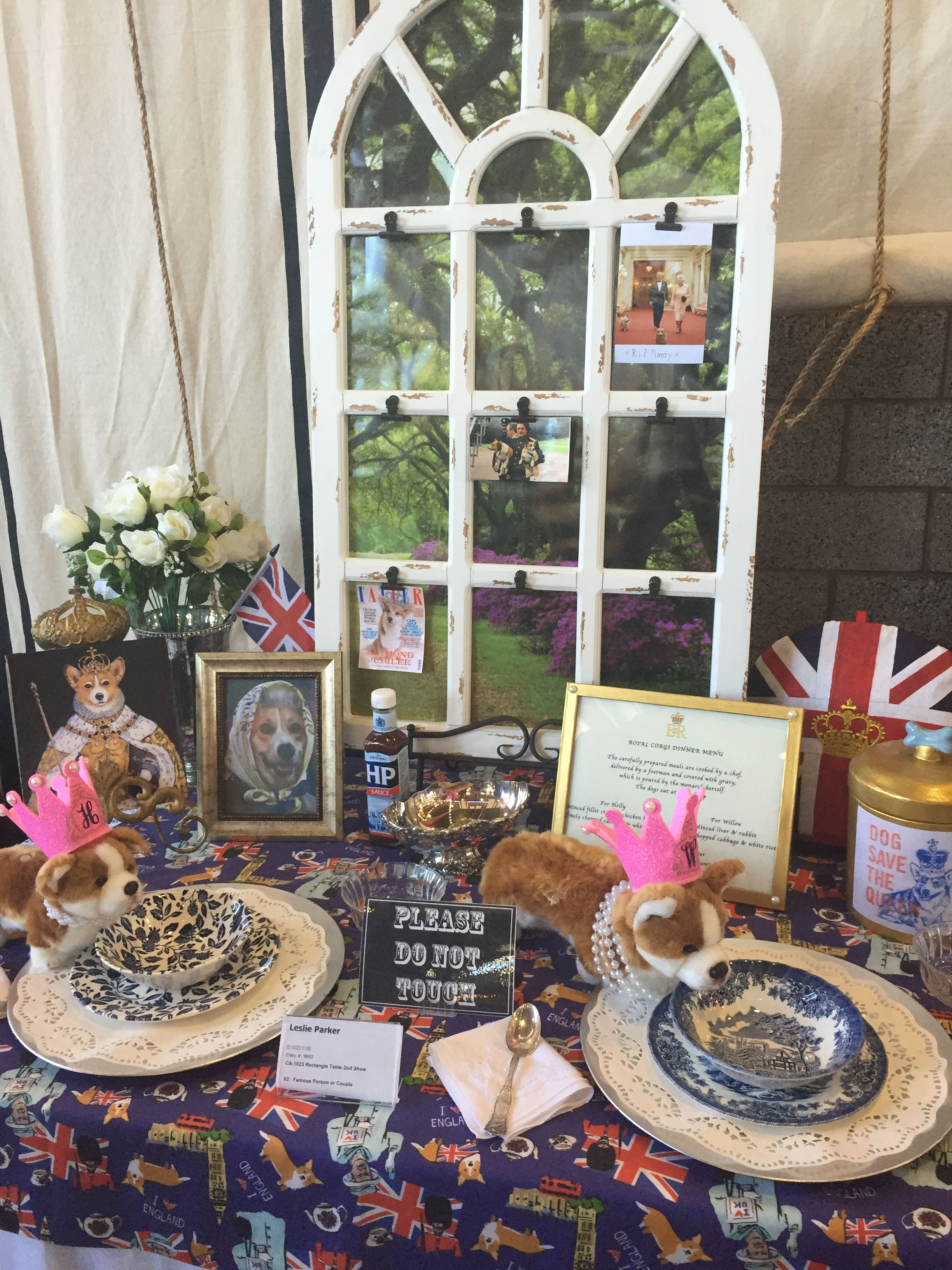 British Table Setting at OC Fair | Keep Calm and Marry On | Pinterest