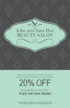 Light Blue Gray Salon Flyer $53