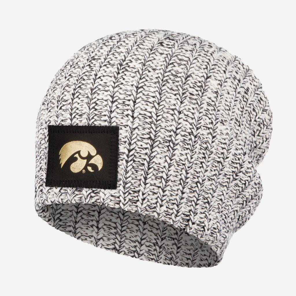 quality design 18344 85165 Love Your Melon University of Iowa Black Speckled Gold Foil Beanie