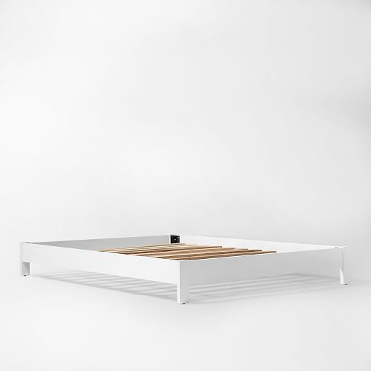 Simple Bed Frame White Furniture Low Bed Frame Simple Bed