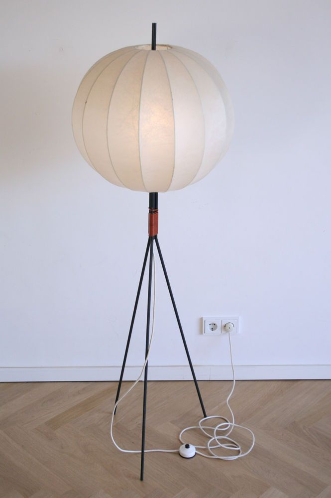 Stehlampe tripod space age cocoon lampe 60er 70er eames for Eames lampe