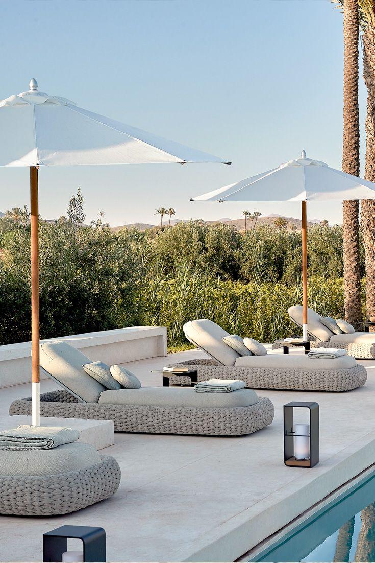 Luxurious Designer Contemporary Sun Lounger Juliettes Interiors Luxury Garden Furniture Modern Outdoor Furniture Sun Lounger Modern outdoor pool lounger