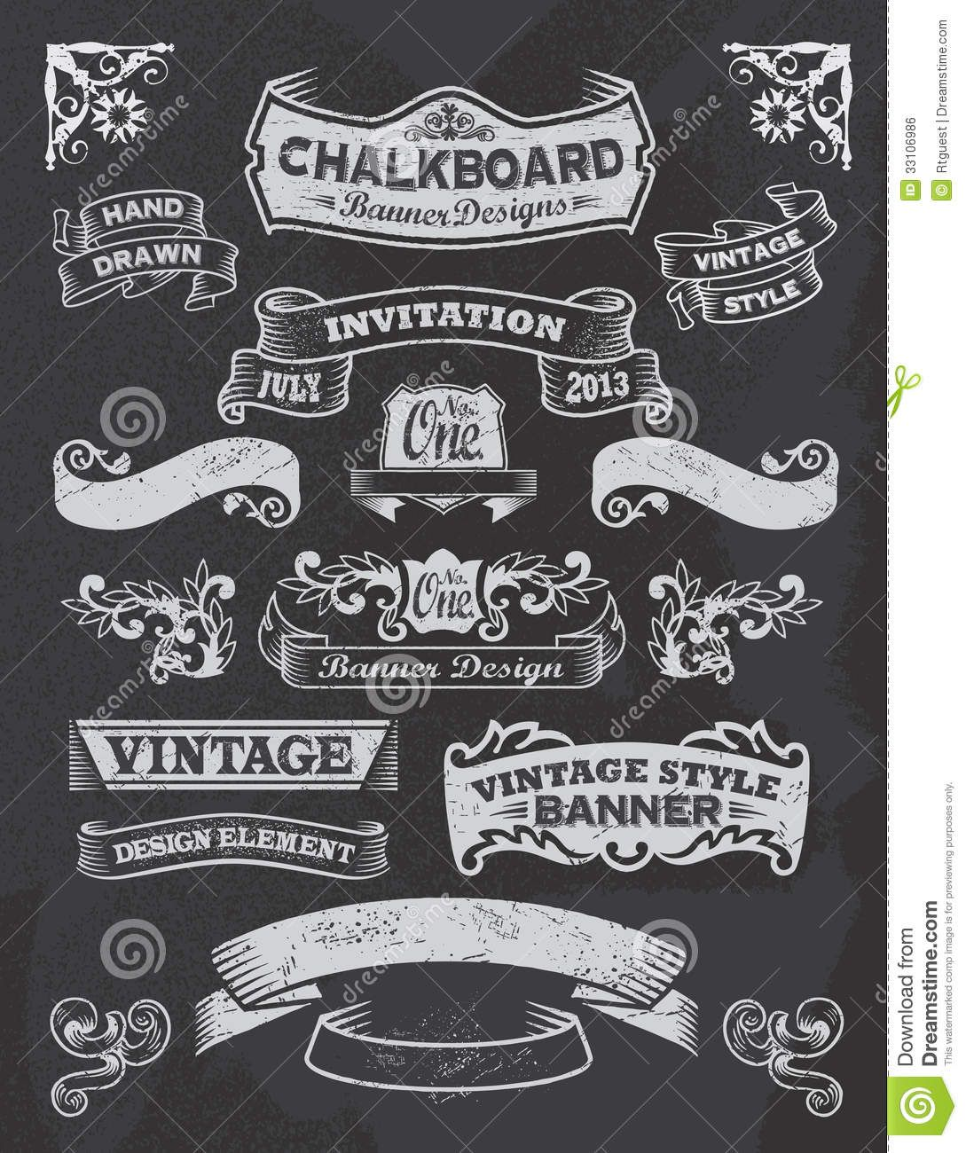 chalkboard banners free download chalkboard banner and ribbon