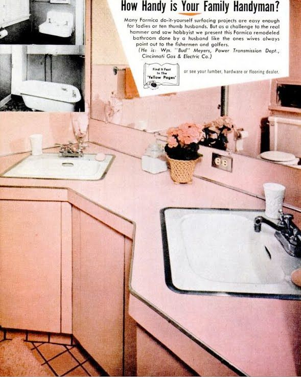 Mid-Century Living: Save the Pink Bathrooms! | 1950 - 1960 decor ...
