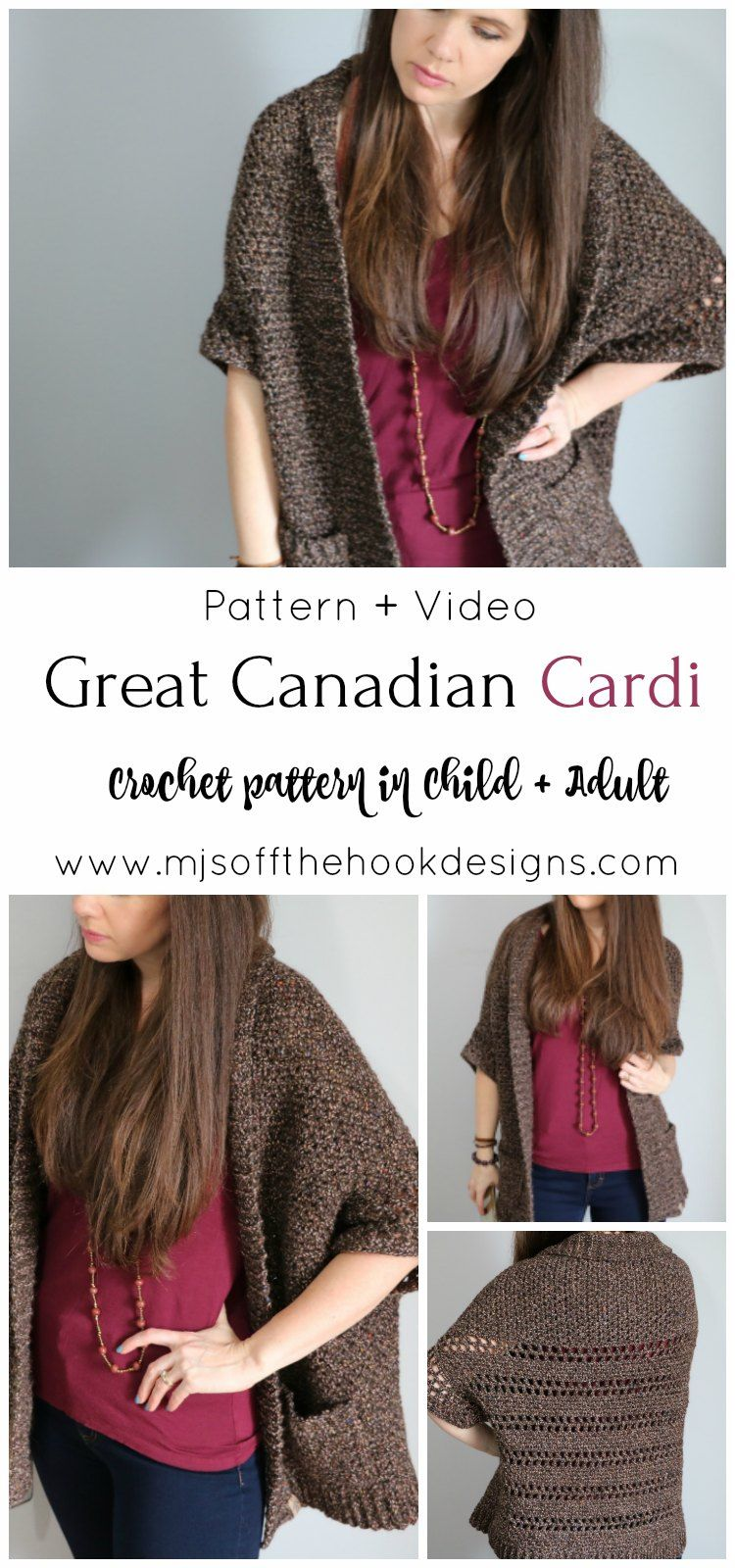 Crochet The Great Canadian Cardi - MJ's off the Hook Designs   crochetsweater  crochetcardigan   2a10f920125a