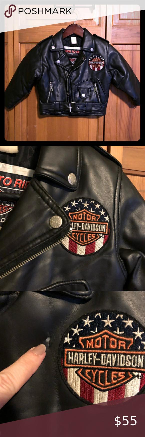 Kids Harley Davidson Born To Ride Jacket Size 4 Kids Harley Davidson Black Leather Look Born To Ride Jacket Size 4 Great Co Harley Davidson Davidson Harley [ 1740 x 580 Pixel ]