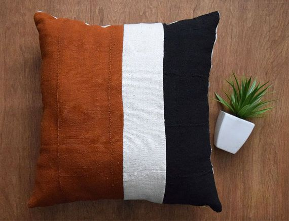 """22X22 Pillow Insert Authentic Mudcloth Pillow Cover Tribal Pillow Cover For 22"""" X 22"""