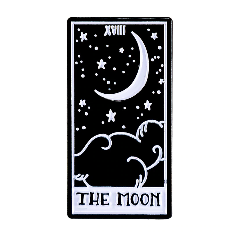 The Moon Tarot Card Enamel Pin In Brooches From Jewelry Accessories On Aliexpress Com Alibaba Group In 2020 The Moon Tarot Card The Moon Tarot Tarot Cards Art