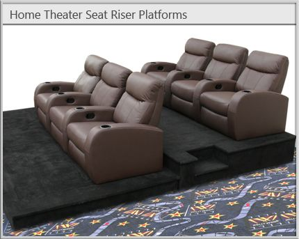 Home Theater Seat Risers and Stadium Seating Platforms Favorite