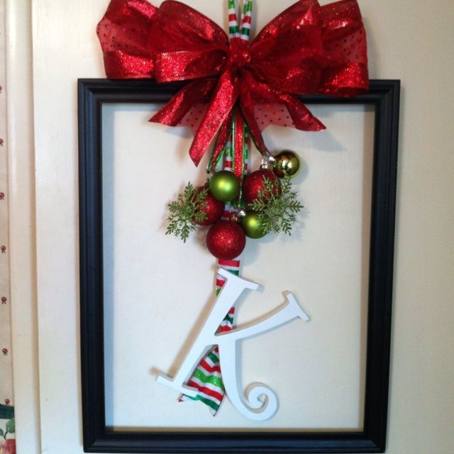 Christmas Picture Frame Craft Ideas Part - 20: Christmas Frame Wreaths | Frame Wreath
