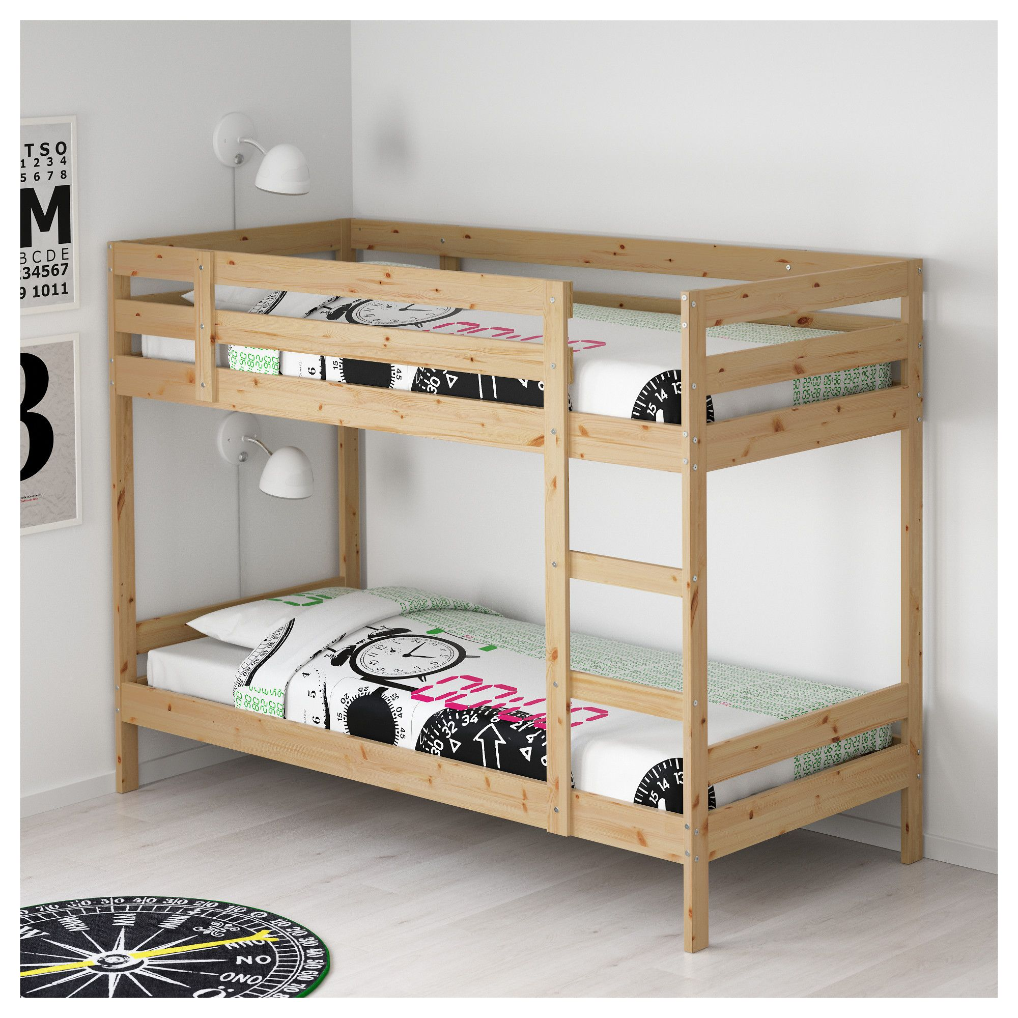 Ikea Mydal Bunk Bed Frame The Ladder Mounts On Right Or Left Side Of