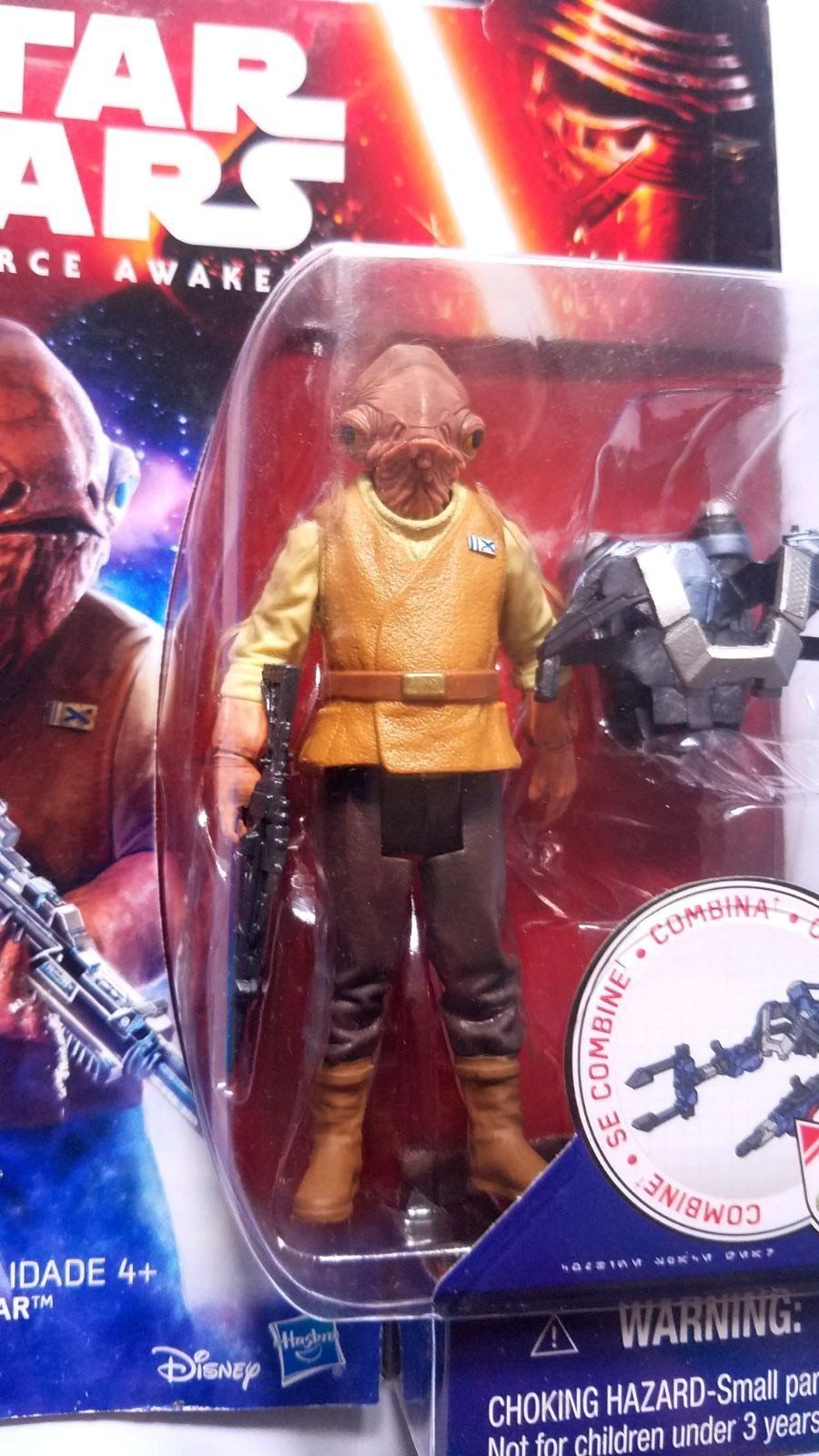 Star Wars 3.75 Inch Admiral Ackbar Action Figure The Force Awakens SEALED NEW