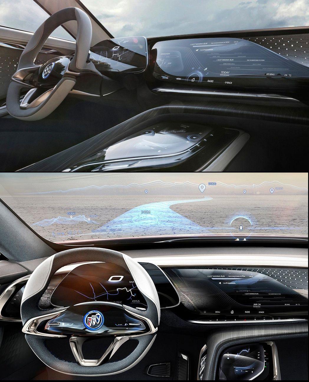 Buick Enspire Concept 2018 Ux Ui Cluster Multimedia Car Design
