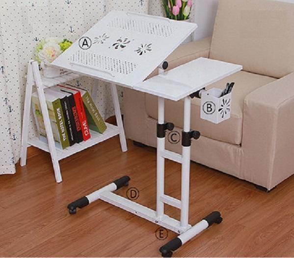 Best Adjustable Swivel Top And Casters Beside Bed And Sofa Movable  Adjustable Height #Computer Desk