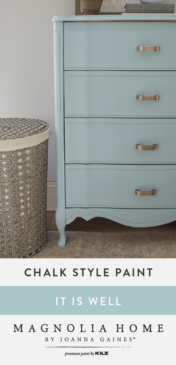 It Is Well Chalk Style Paint Blue Painted Furniture Blue Painted Dresser Painted Bedroom Furniture