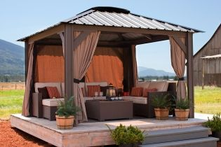 Lattice Gazebos Are Updated And Now Featured As Open Air Gazebos Available Nationally As Well As To The Lehigh V Backyard Gazebo Outdoor Gazebos Hot Tub Gazebo