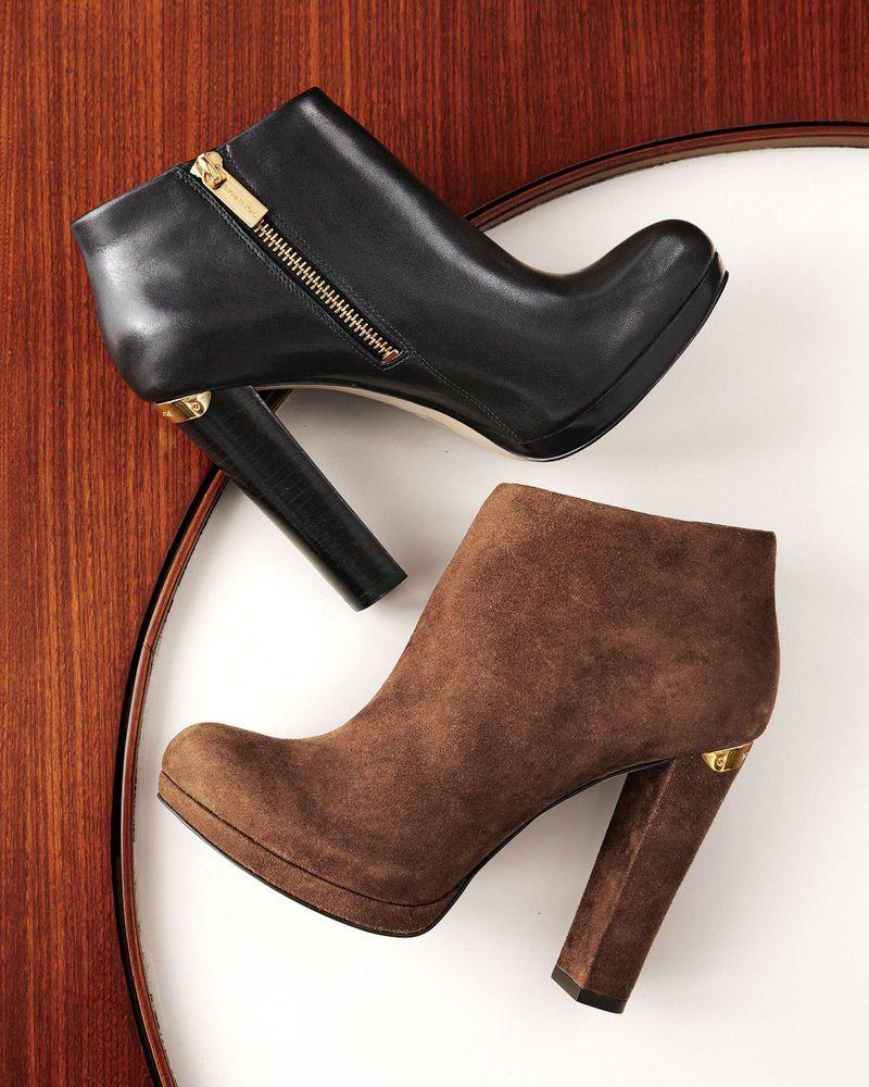 e8a495df123d7 Michael Kors MK HAVEN Cognac Brown Ankle Bootie Boots Shoes Heels Multi  Size NIB #MichaelKors #FashionAnkle