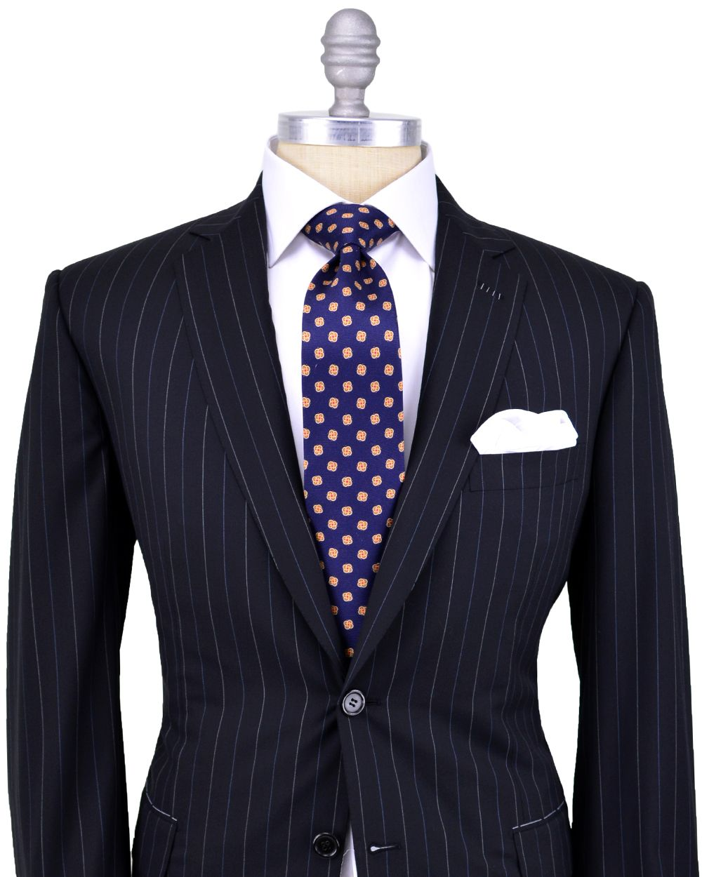 Brioni Black with Blue and White Pinstripe Suit | Fancy clothes ...