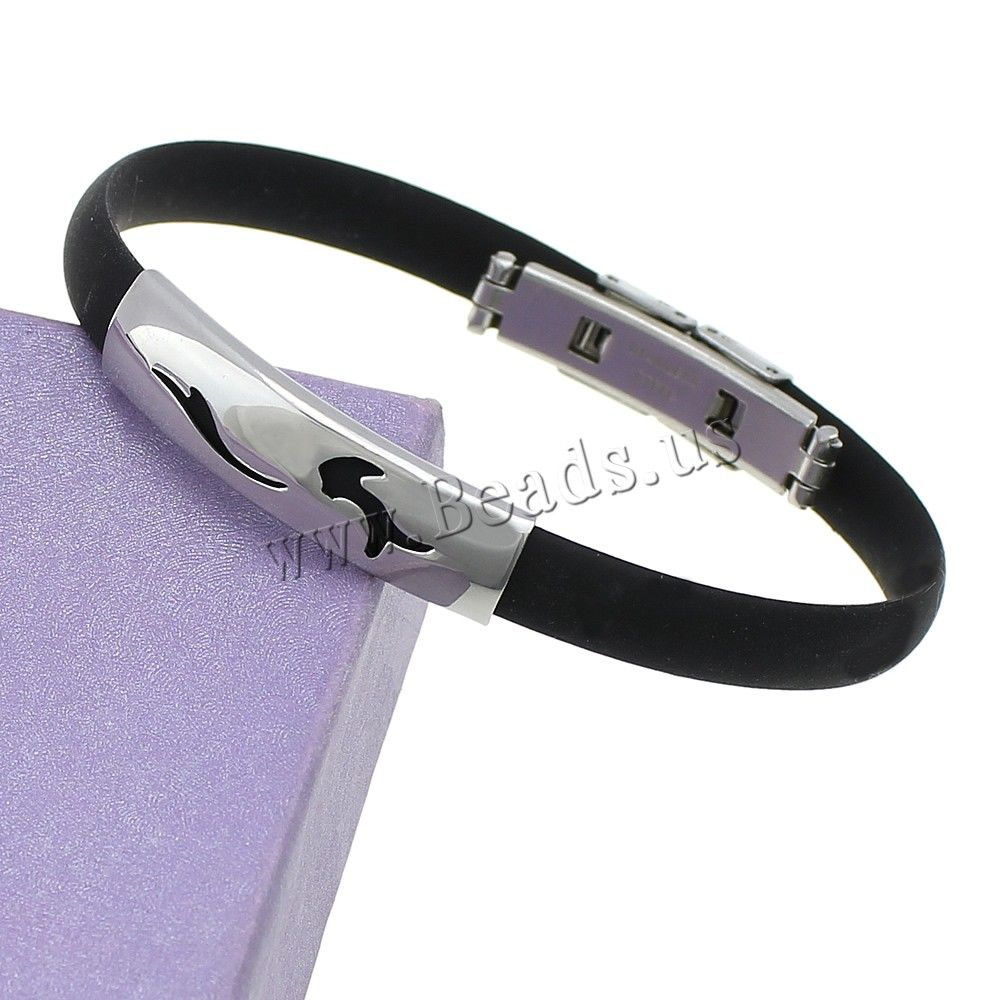 Strands fashion stainless steel friendship bracelet men punk black