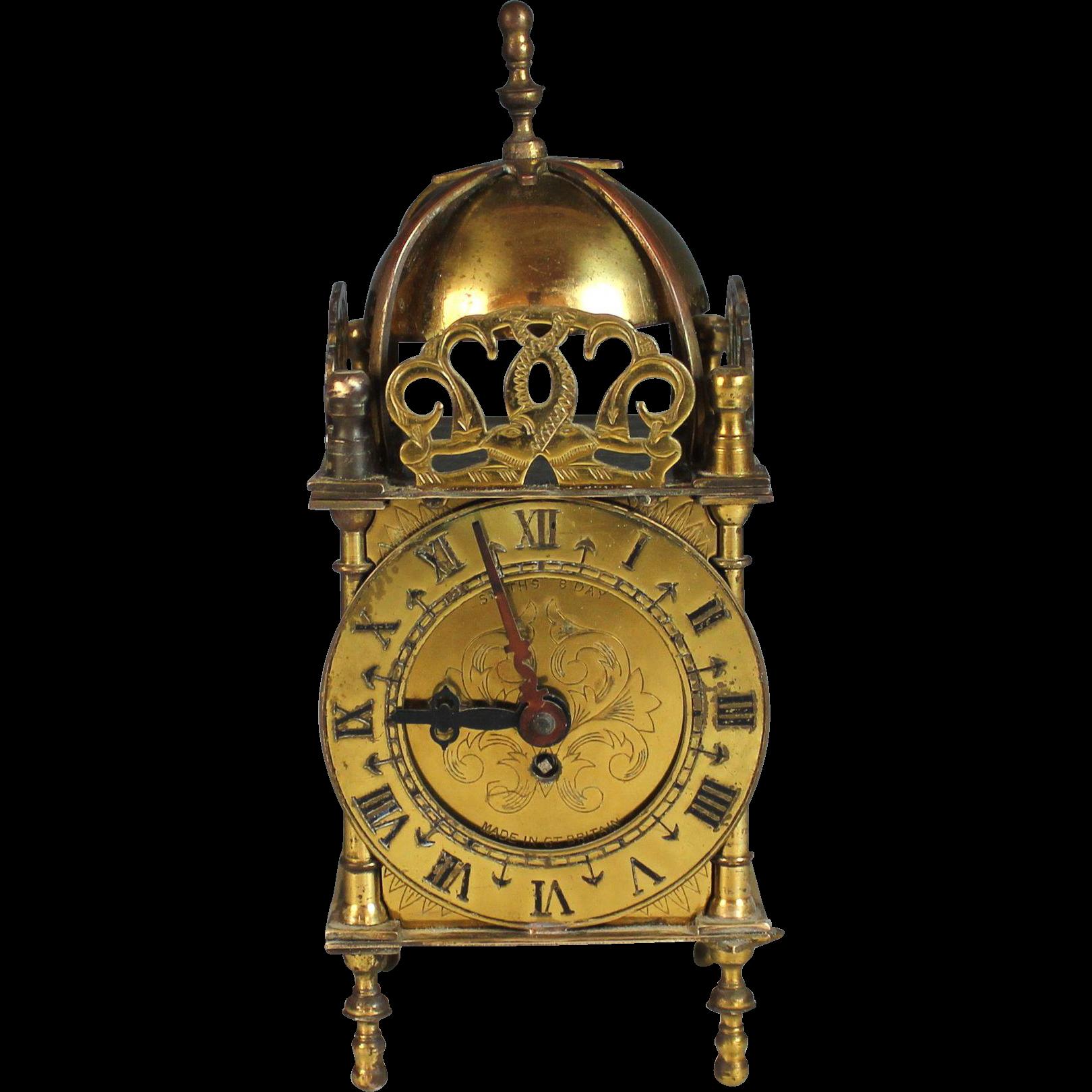 Vintage Nell Gwynne English Made Lantern Clock 8 Day Mechanical Wind Clock Retro Clock Vintage Clock