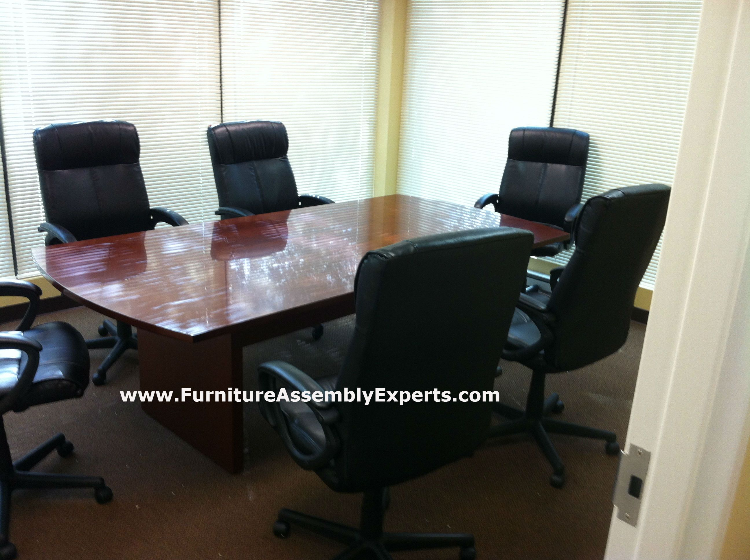 Staples Conference Table Assembled In Washington DC By Furniture - Office depot conference table