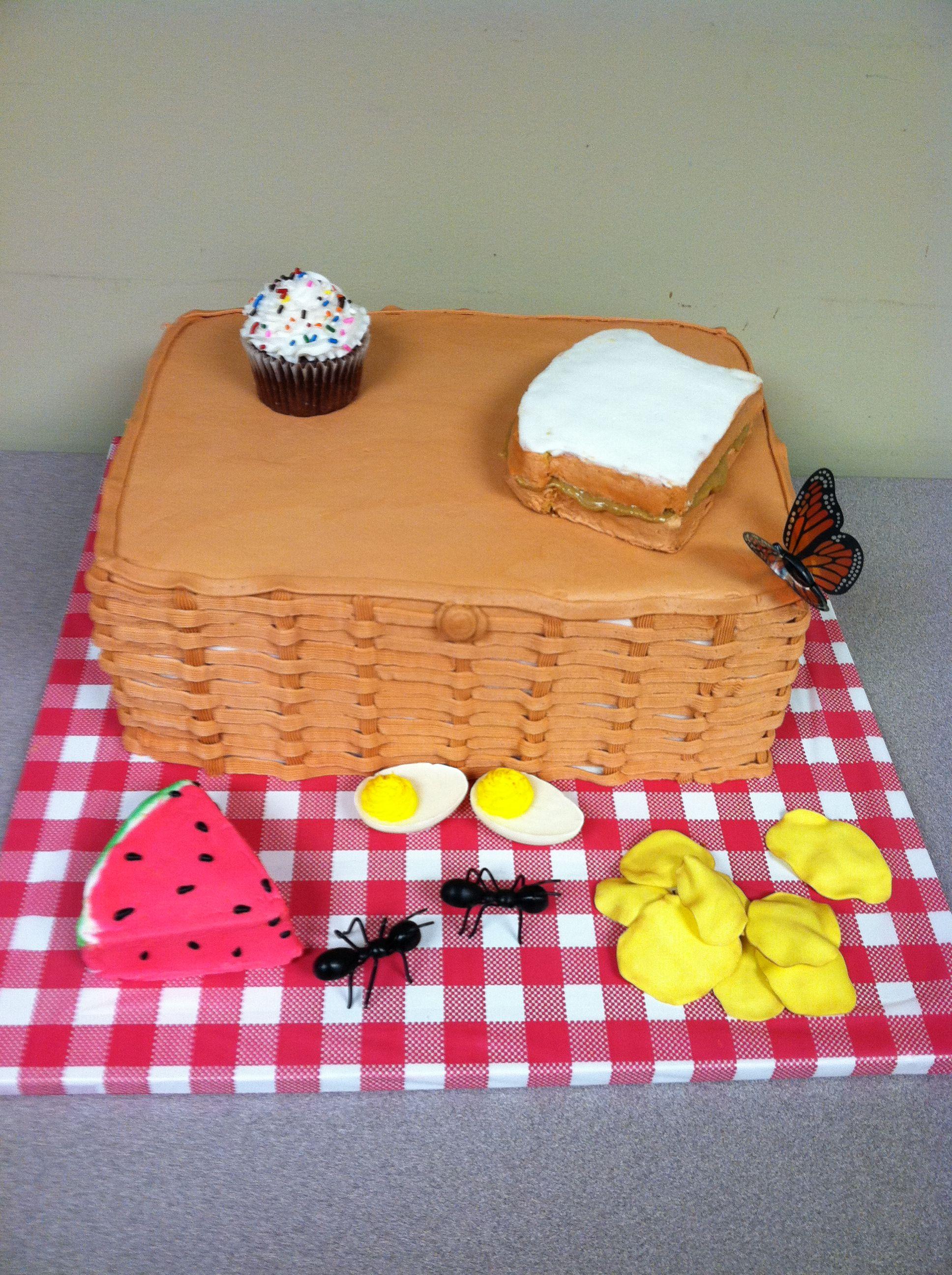 Picnic Basket Cake Addicted To Cake Picnic Cake Baby