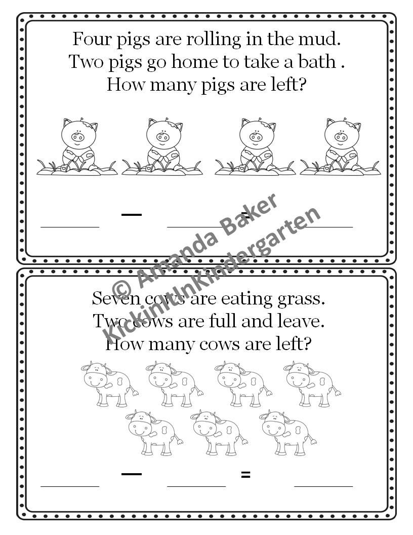 Linus The Minus Subtraction Story Problems Worksheets Mini Books Story Problems Subtraction Mini Books [ 1056 x 816 Pixel ]
