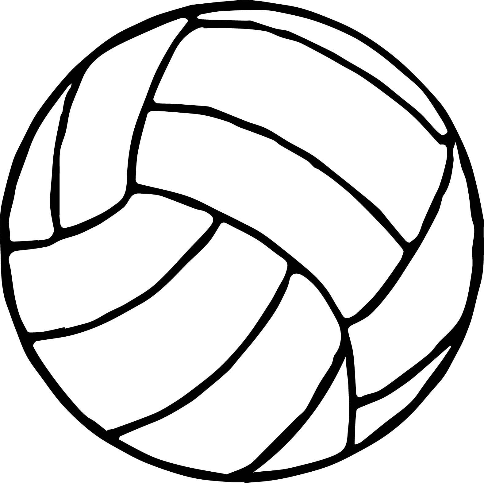 Awesome Volleyball Ball Coloring Page Coloring Pages Sports Coloring Pages Coloring Contest