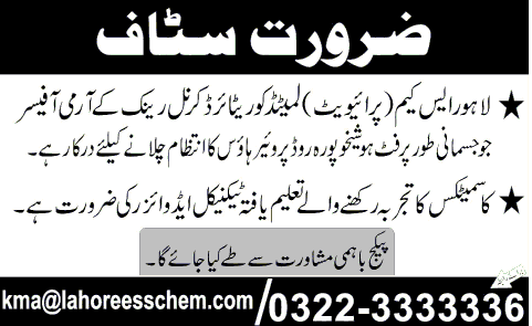 Staff Required | New Jobs Portal