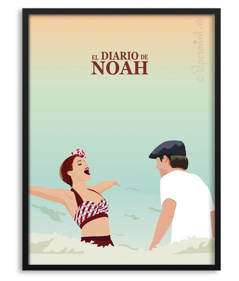 El Diario De Noah Póster The Notebook Personalizable Con Frase Diario De Una Pasión Carteles De Cine Minimalistas Poster