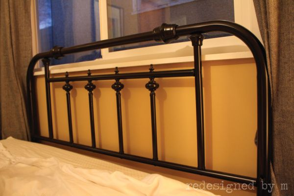 Redesigned Brass To Class Painted Headboard Painted Headboard Headboard Headboard Makeover