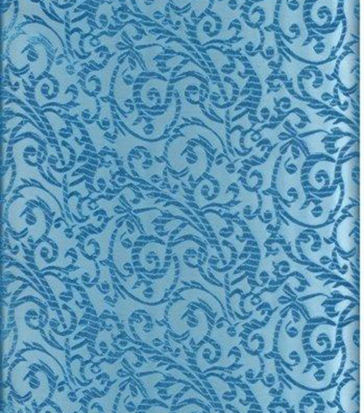 Jo-Ann Stores Brocade Fabric Intricate Scroll Turquoise ...