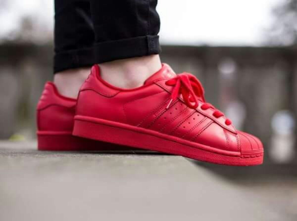 adidas superstar zapatos rojas