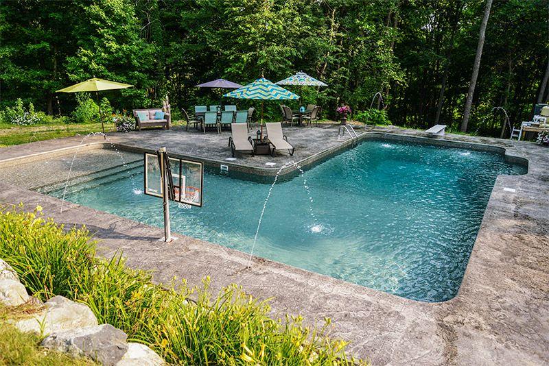 L shape inground pool kits royal swimming pools pools for Garden swimming pool kits